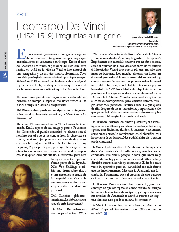 Arte: Leonardo Da Vinci (1452-1519): Preguntas a un genio