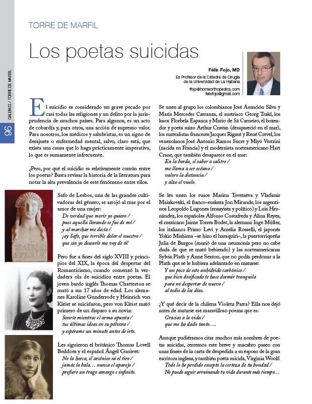 La torre de marfil: Los poetas suicidas
