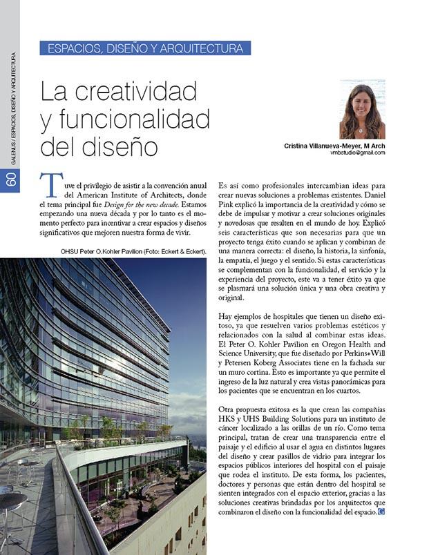 Espacios, diseño y arquitectura: La creatividad y funcionalidad del diseño