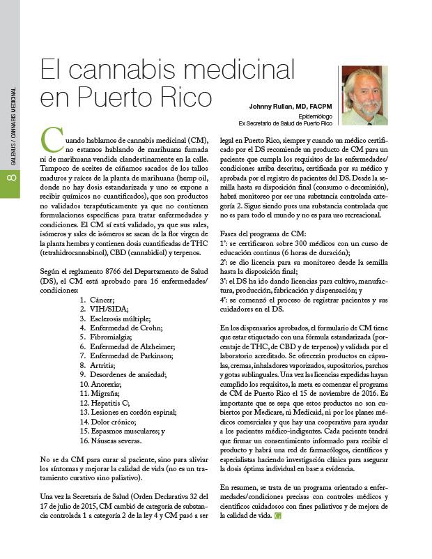 El cannabis medicinal en Puerto Rico
