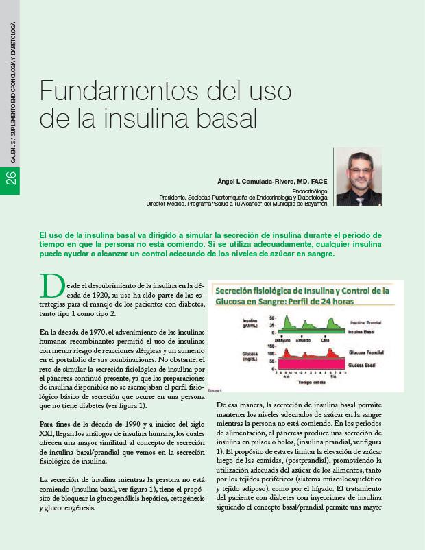 Fundamentos del uso de la insulina basal