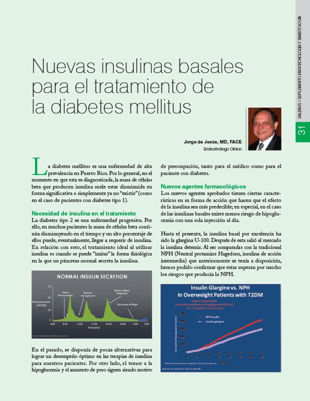 Nuevas insulinas basales para el tratamiento de la diabetes mellitus