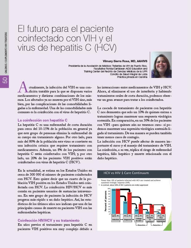 El futuro para el paciente coinfectado con VIH y el virus de hepatitis C (HCV)