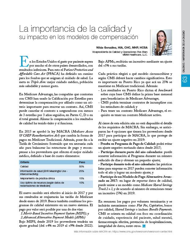 La importancia de la calidad y su impacto en los modelos de compensación