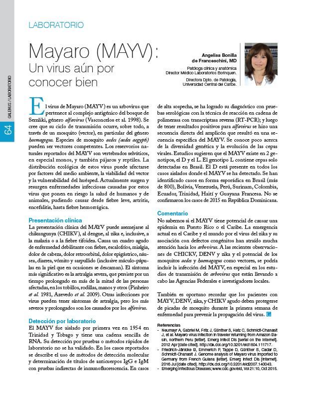 Mayaro (MAYV): Un virus aún por conocer bien