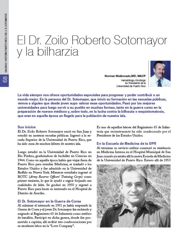 Historia Puerto Rico: El Dr. Zoilo Roberto Sotomayor y la bilharzia