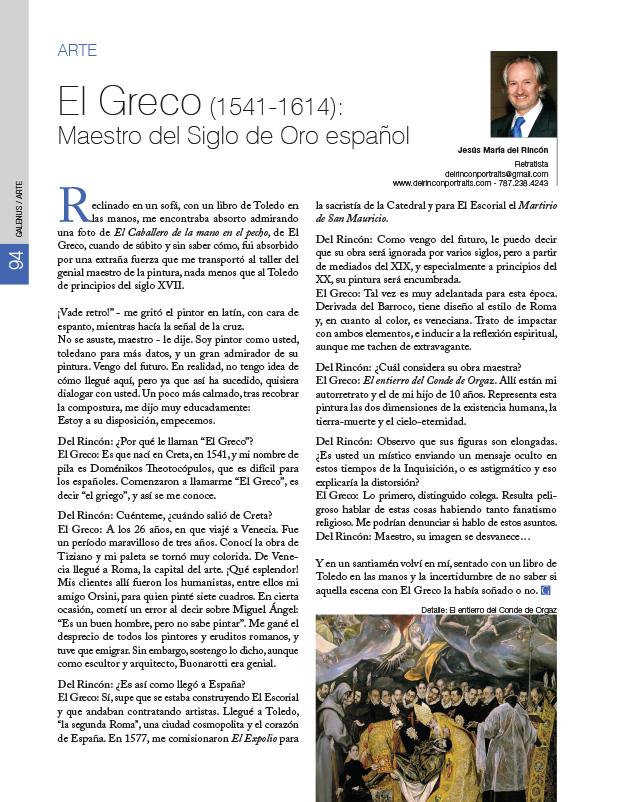 Arte: El Greco (1541-1614): Maestro del Siglo de Oro español