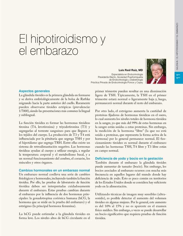 El hipotiroidismo y el embarazo