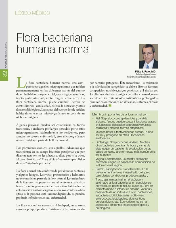 Flora bacteriana humana normal