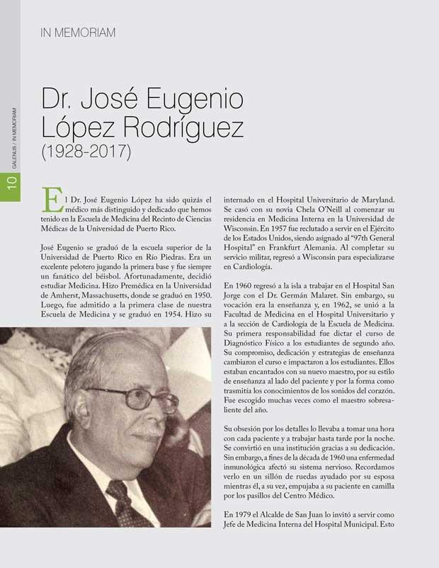 Dr. José Eugenio López Rodríguez (1928-2017)