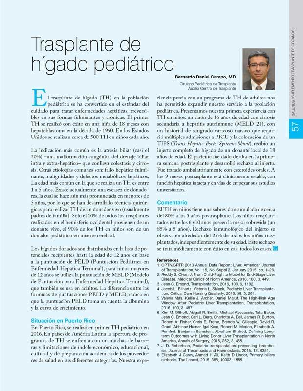 Trasplante de hígado pediátrico