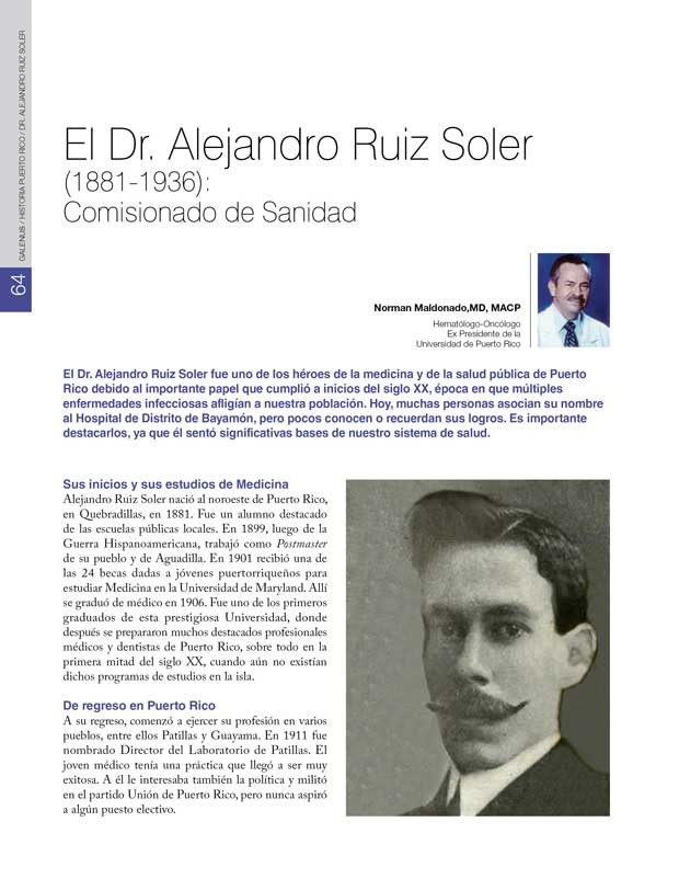 El Dr. Alejandro Ruiz Soler
