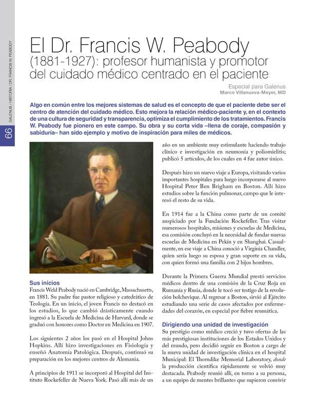 El Dr. Francis W. Peabody