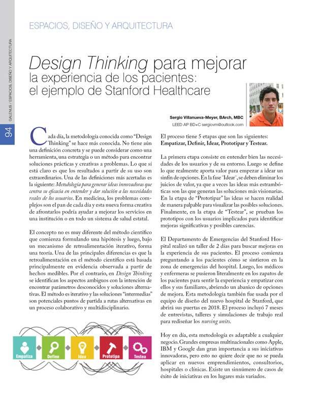 Espacios, Diseño y Arquitectura: Design Thinking para mejorar
