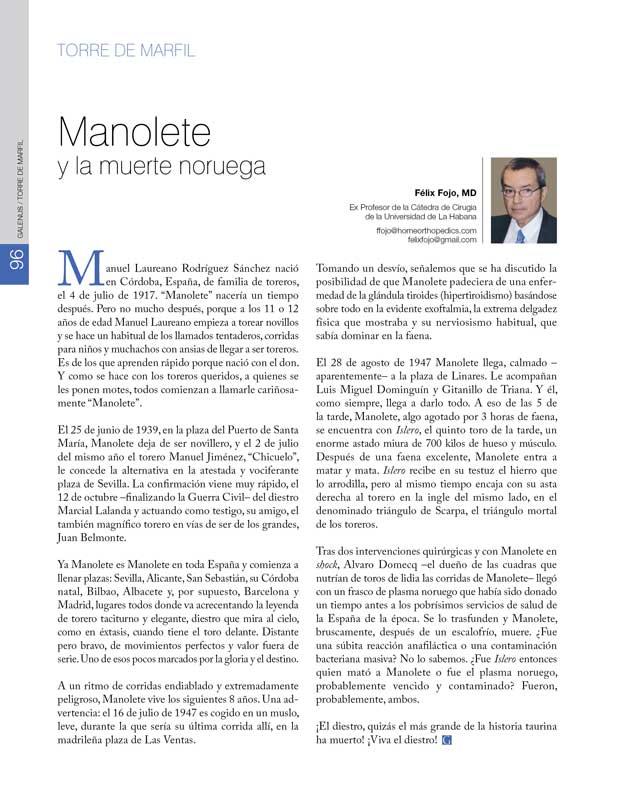 Torre de Marfil: Manolete y la muerte noruega