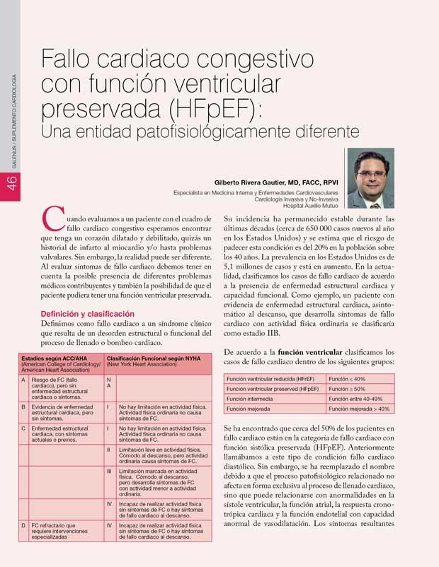 Fallo cardiaco congestivo con función ventricular