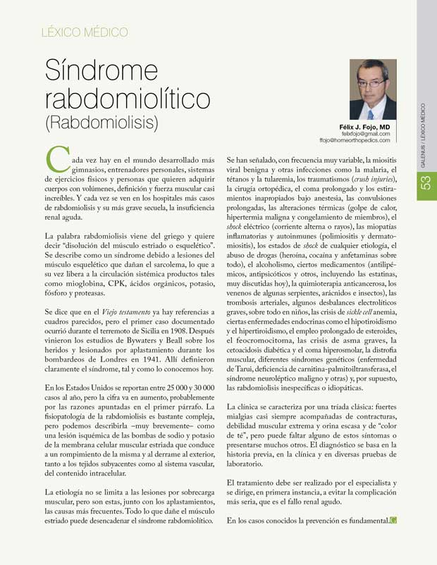 Síndrome rabdomiolítico