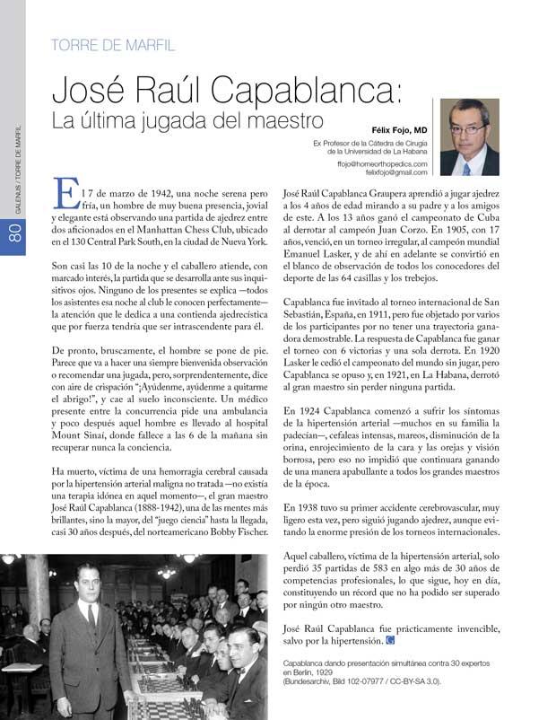 Torre de Marfil: José Raúl Capablanca