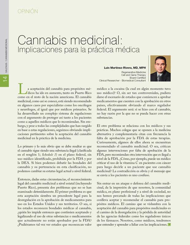 Opinión: Cannabis medicinal