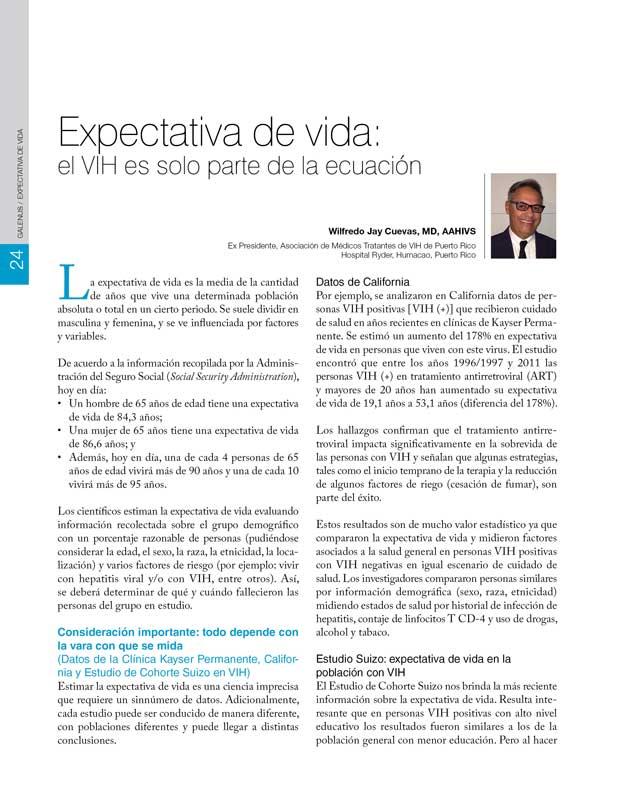Expectativa de vida y VIH