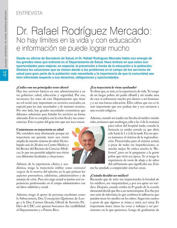 Entrevista al Dr. Rafael Rodríguez Mercado