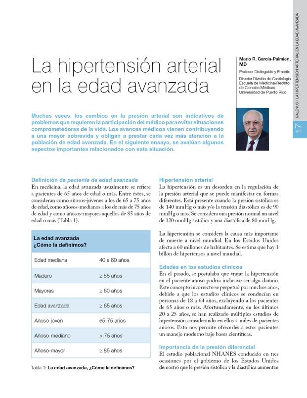La Hipertensión arterial en la edad avanzada