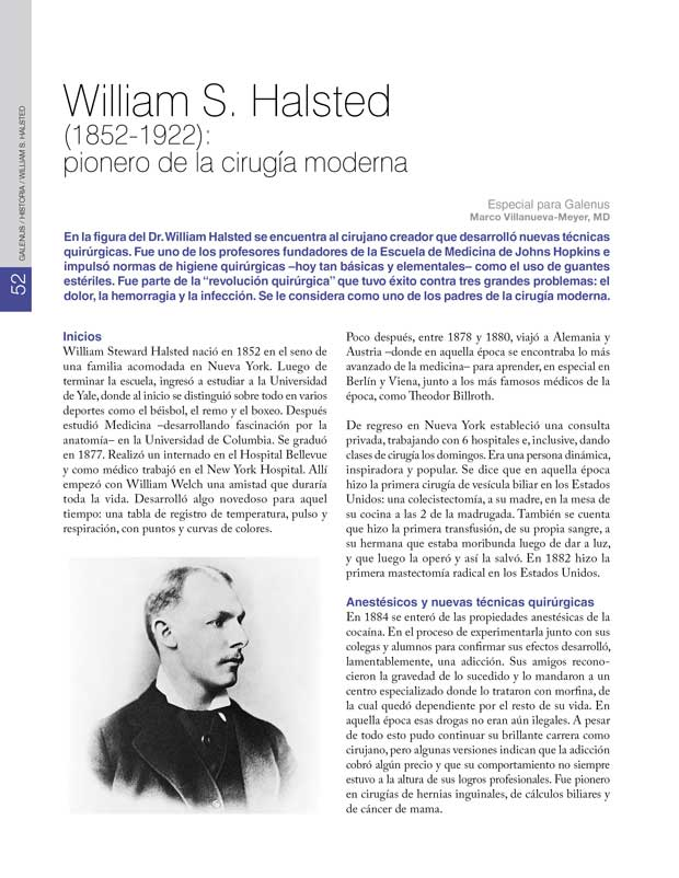 Historia : William S. Halsted