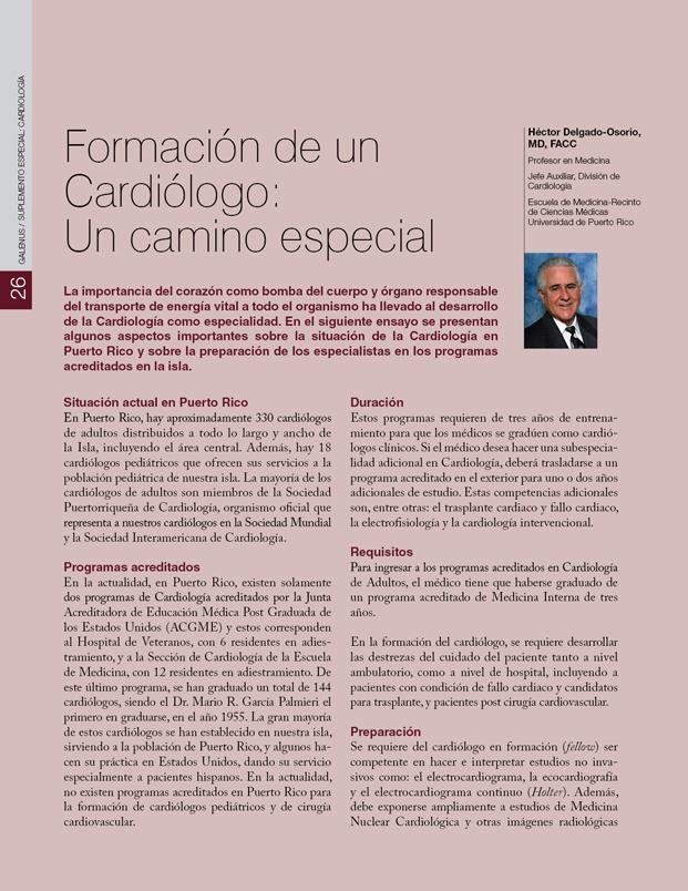 La formación de un cardiólogo: Un camino especial