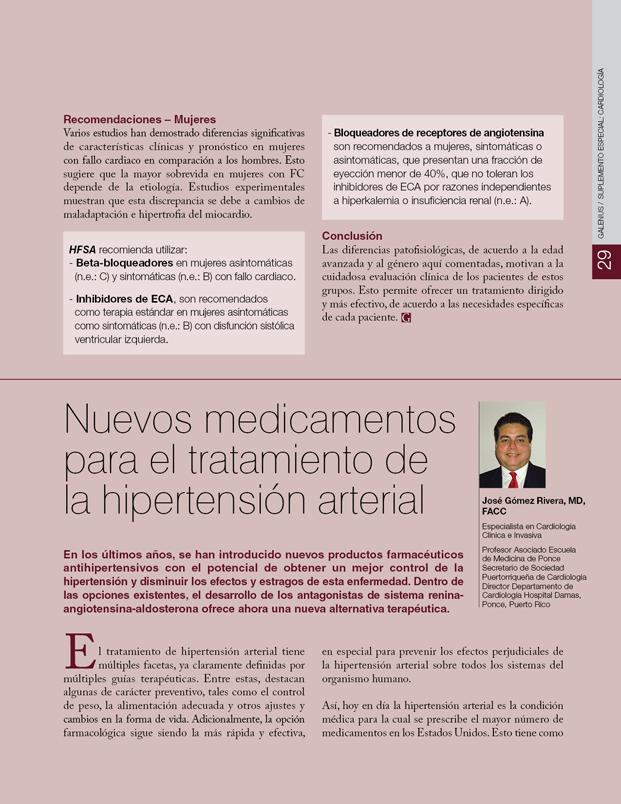 Nuevos medicamentos para el tratamiento de la hipertensión arterial