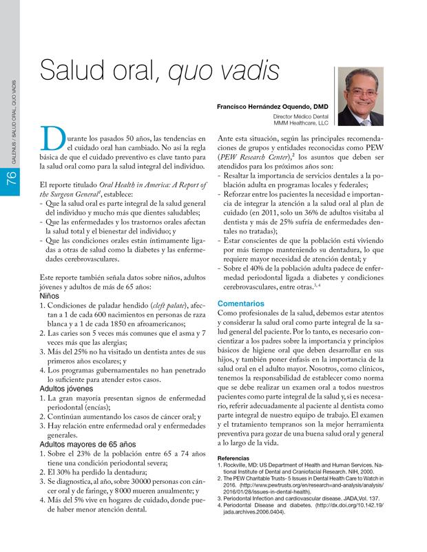 Salud oral, quo vadis