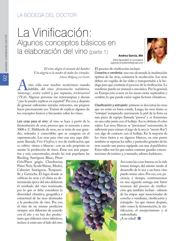 La Bodega del Doctor: La Vinificación: Algunos conceptos básicos en  la elaboración del vino