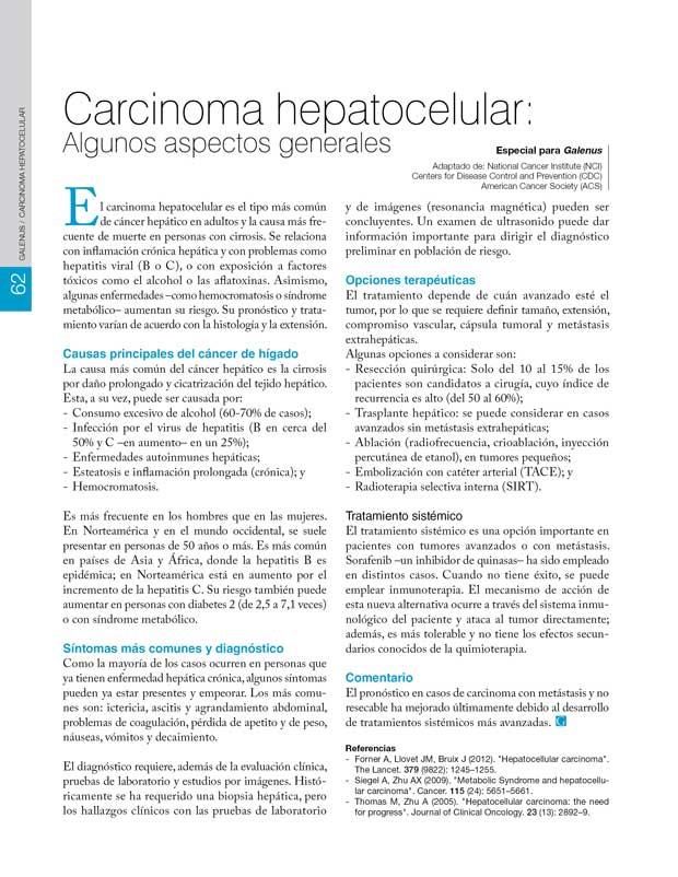 Carcinoma hepatocelular: Algunos aspectos generales