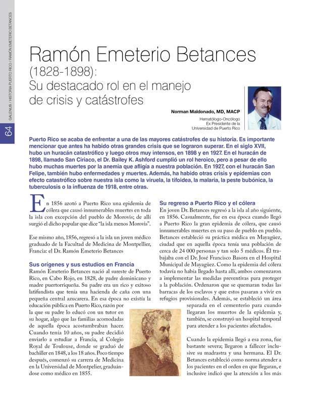 Historia: Ramón Emeterio Betances