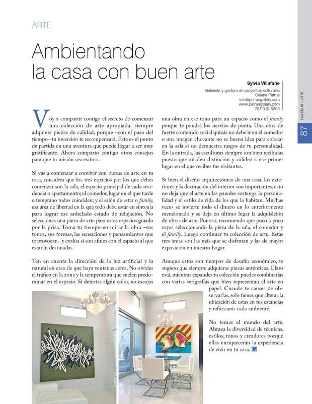 Arte: Ambientando  la casa con buen arte