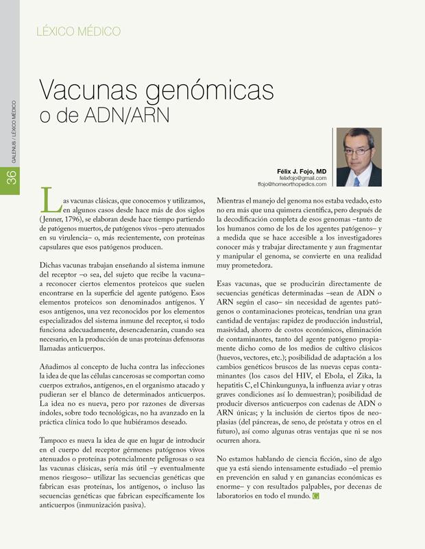 Vacunas genómicas o de ADN/ARN