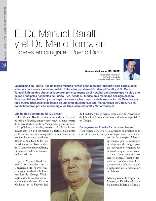 Historia: El Dr. Manuel Baralt y el Dr. Mario Tomasini