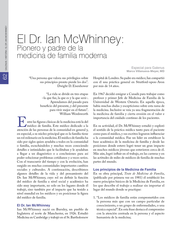 Historia: Dr. Ian McWhinney