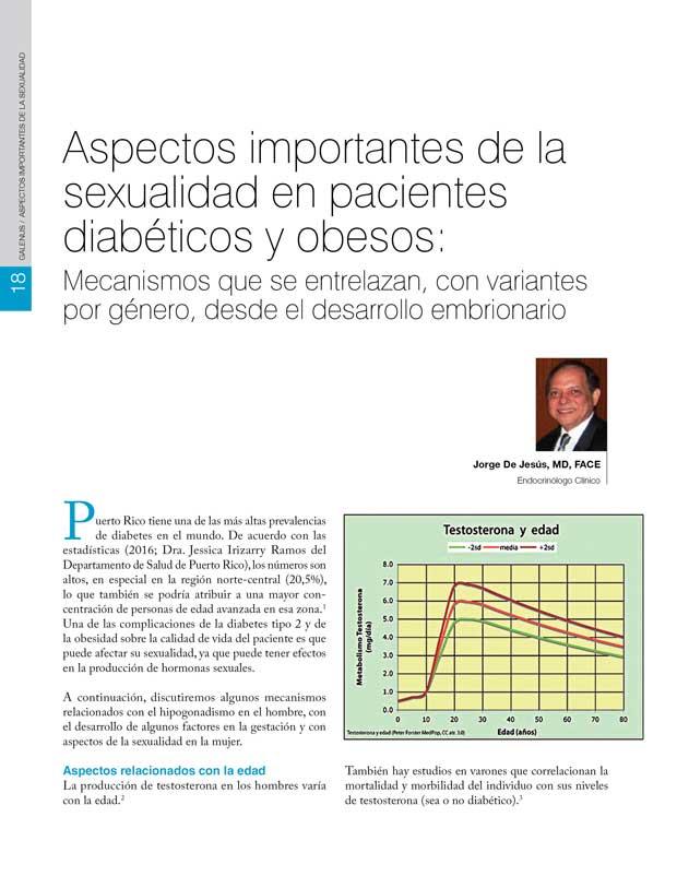 Aspectos importantes de la sexualidad en pacientes  diabéticos y obesos