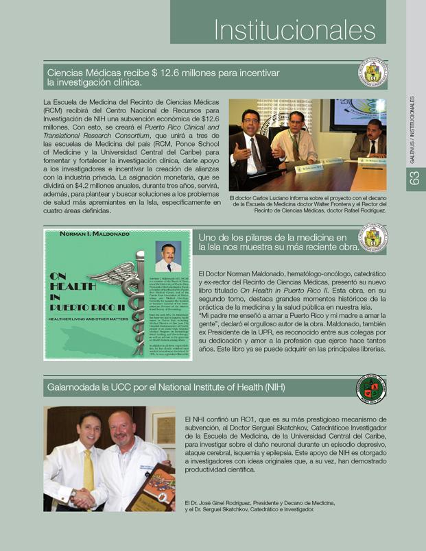 Institucionales e información: