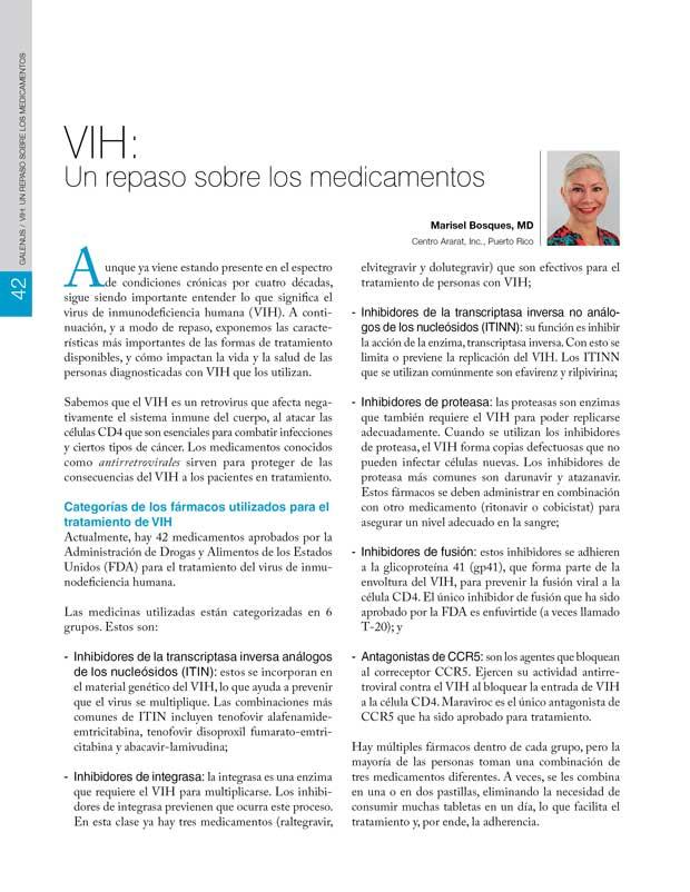 VIH: Un repaso sobre los medicamentos
