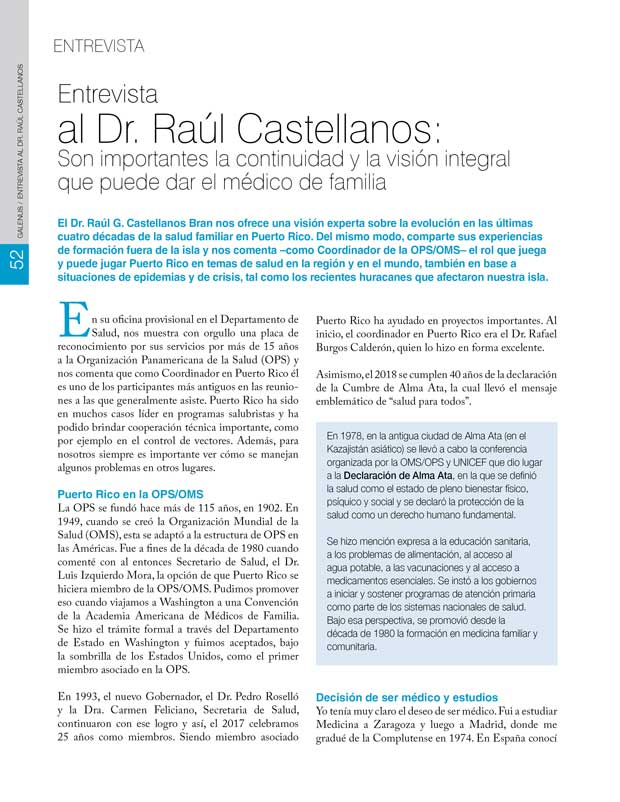 Entrevista  al Dr. Raúl Castellanos