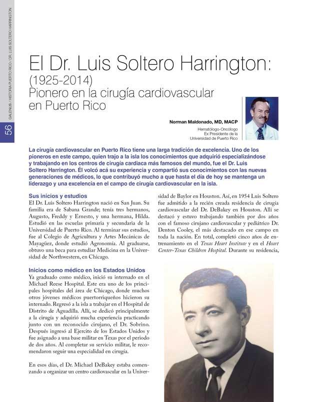Historia: El Dr. Luis Soltero Harrington