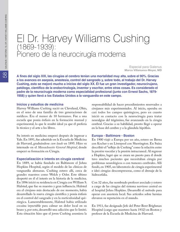 Historia: El Dr. Harvey Williams Cushing