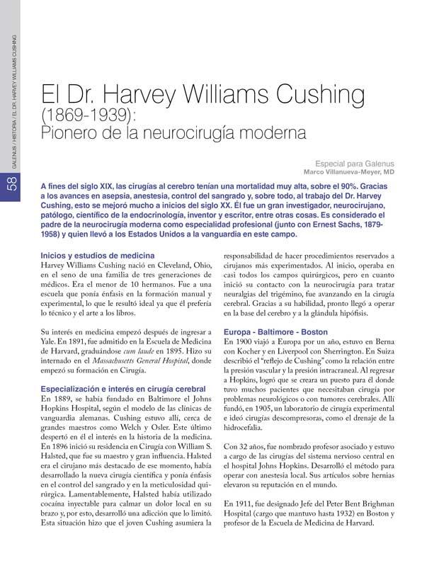 Historia: El Dr. Harvey Williams Cushing