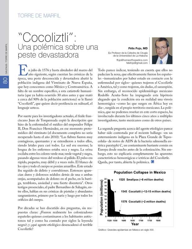"""""""Cocoliztli"""": Una polémica sobre una peste devastadora"""
