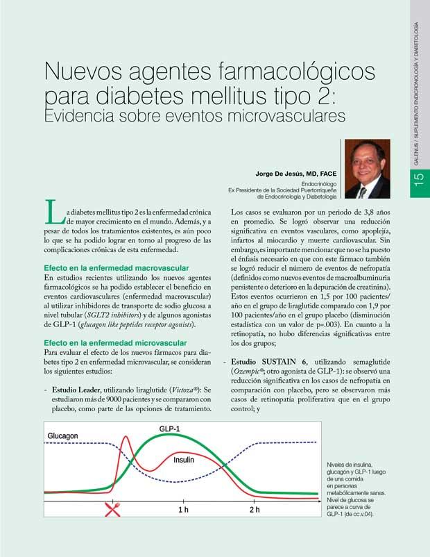 Nuevos agentes farmacológicos para diabetes mellitus tipo 2
