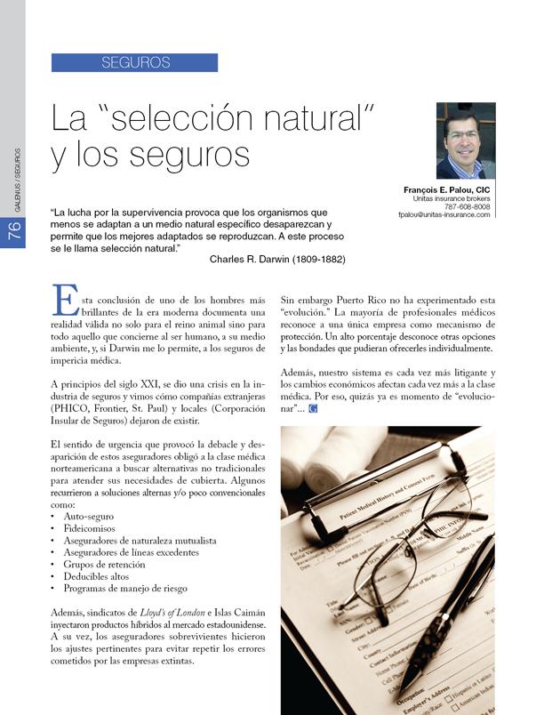 """Seguros: La """"selección natural"""" y los seguros"""