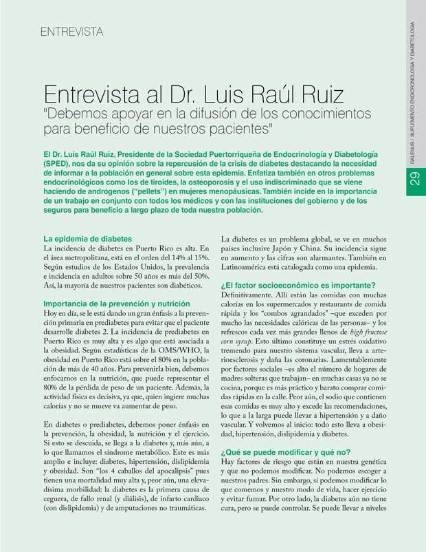 Entrevista al Dr. Luis Raúl Ruiz