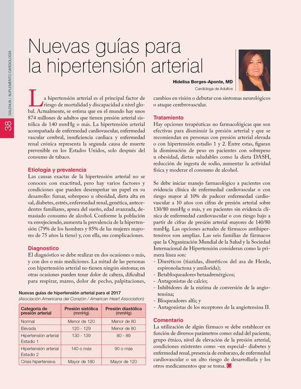 Nuevas guías para la hipertensión arterial