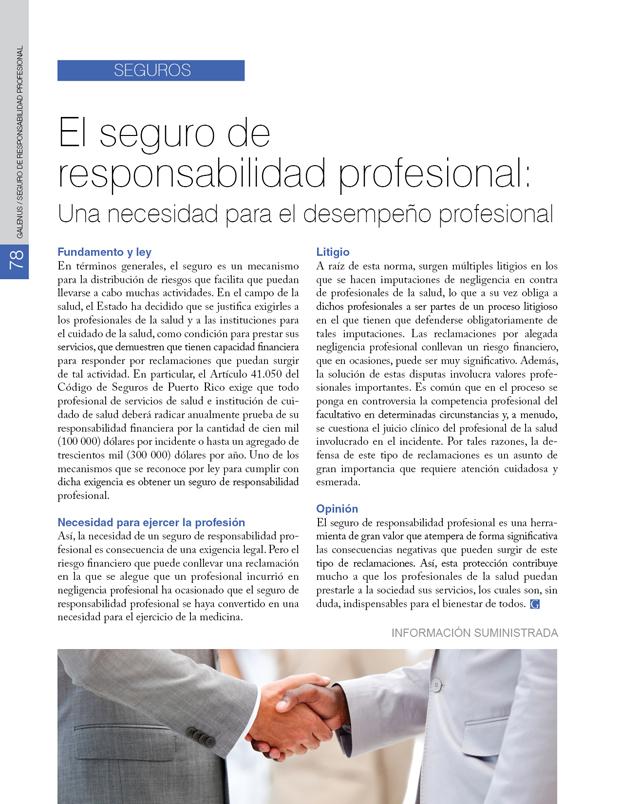 Seguros: El seguro de responsabilidad profesional